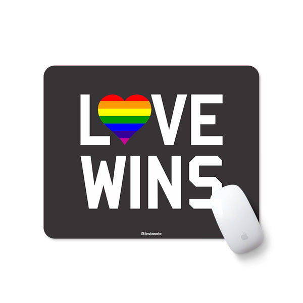 Love Wins - Mousepad with Motivational Quote Mousepad for PC Laptop in India Instanote