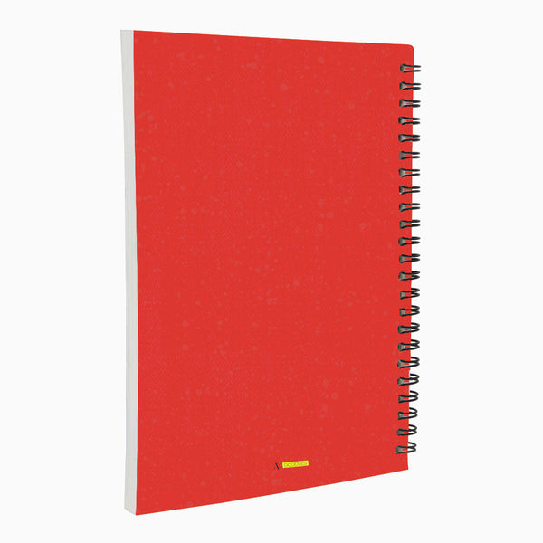 Do Just Red - Non Dated Daily Planner A5 Size 80 Pages