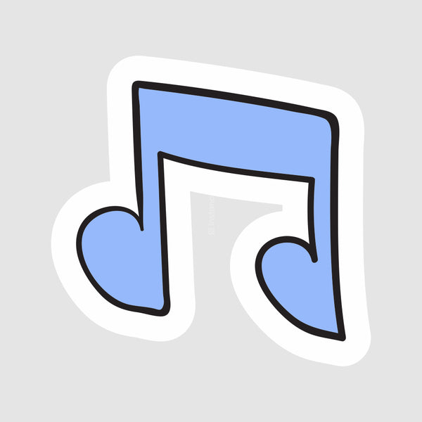 Music (Blue)  - Buy Removable Vinyl Stickers in India