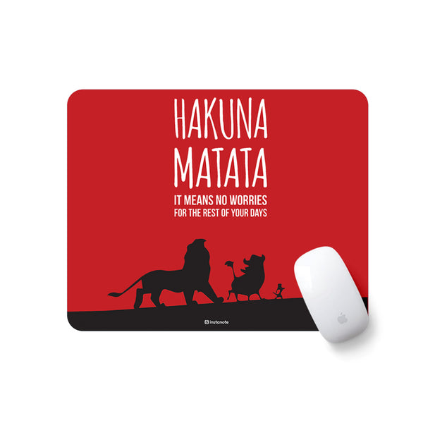 Motivational Quote Printed Mousepad (Black and Red)