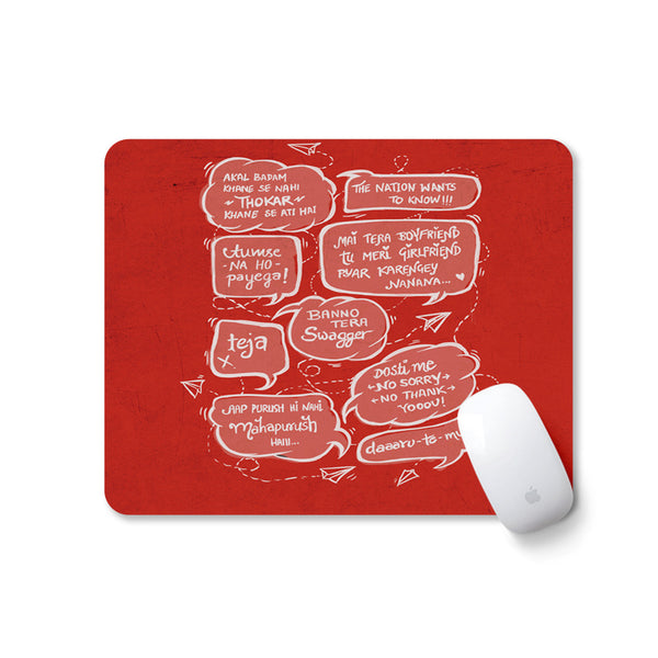 Bollywood Filmy Style Quirky Cool Mousepad Mousepad for PC Laptop in India Instanote