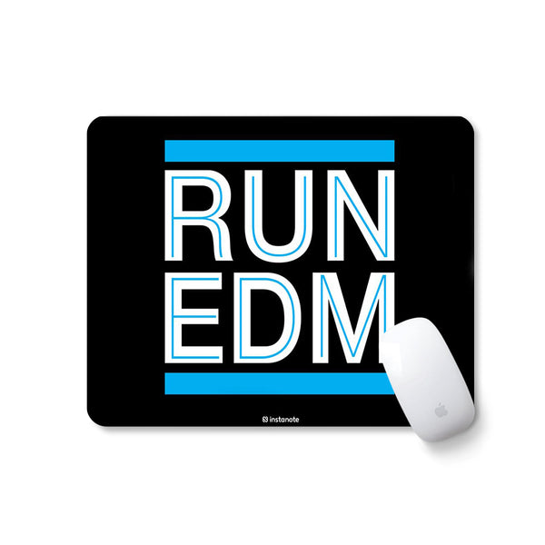 Designer Rubber Based Mouse pad with Anti Skid Feature (Run EDM (Blue))