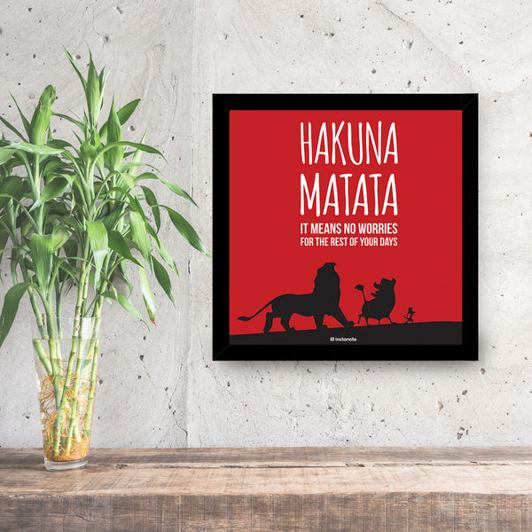 hakuna matata framed poster for room