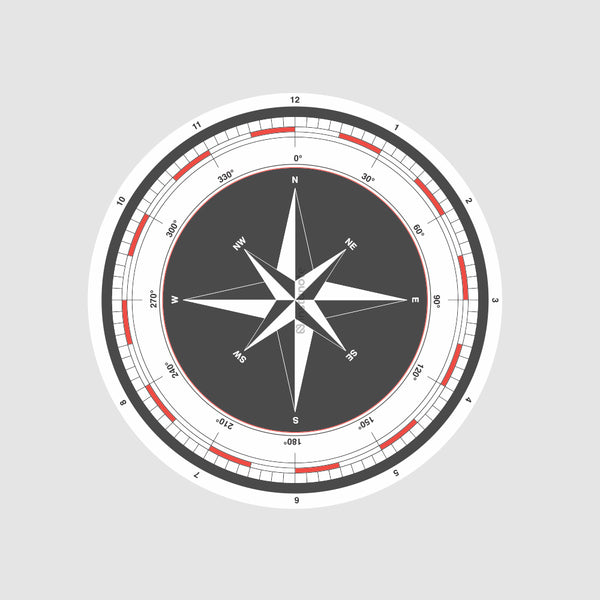 Compass  - Buy Removable Vinyl Stickers in India