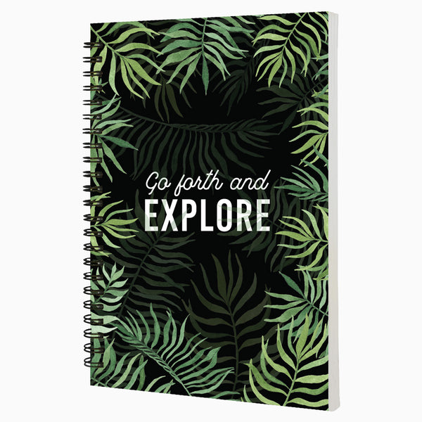 Go Forth And Explore - Non Dated Daily Planner A5 Size 80 Pages