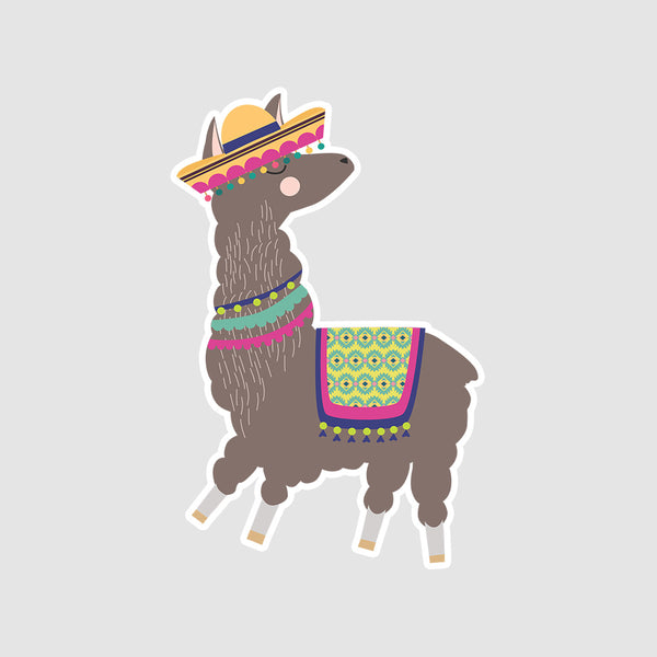 LLama With No Drama  - Buy Removable Vinyl Stickers in India