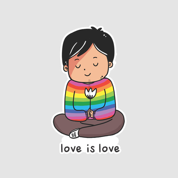 Love Is Love  - Buy Removable Vinyl Stickers in India
