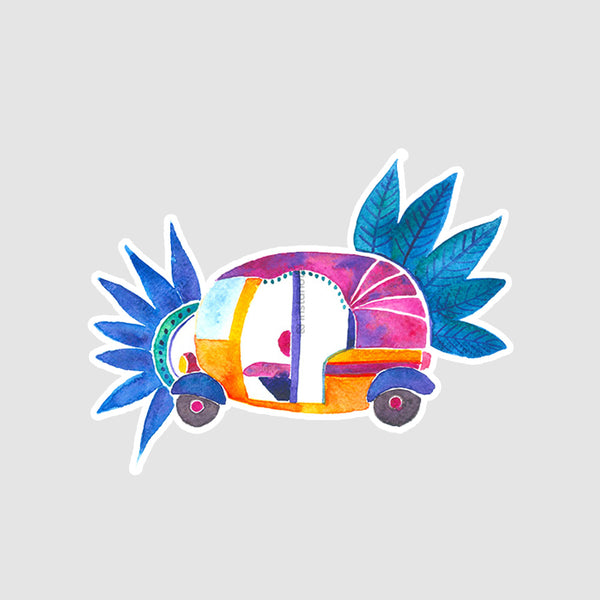 Groovy Rickshaw  - Buy Removable Vinyl Stickers in India