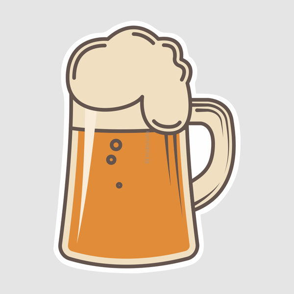 beer  removable vinyl sticker for phone case cover laptop