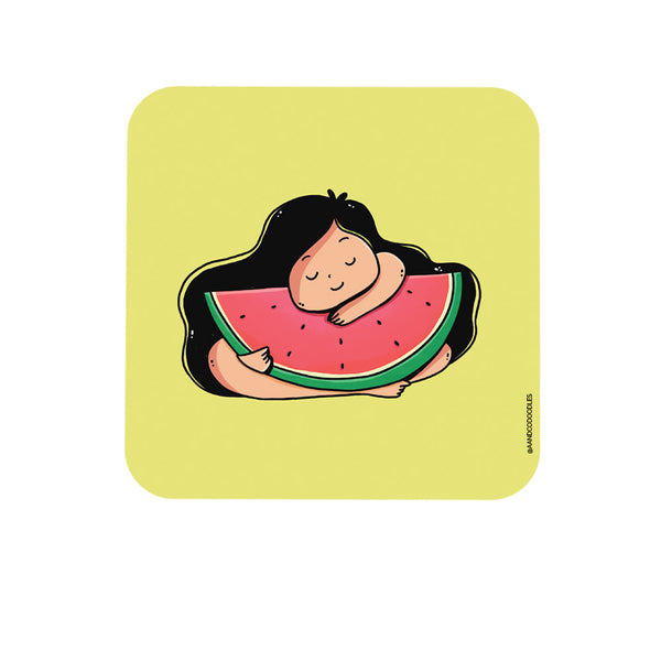 WaterMelon Girl Cool Quirky Coaster