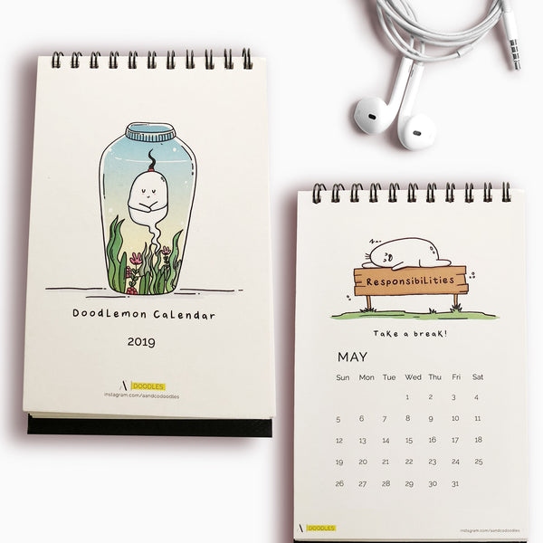 Non dated Daily Planner Quirky Stationery A5 Size 160 Pages Instanote
