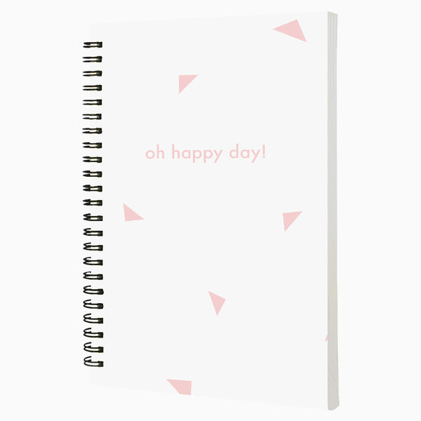 Oh Happy Day A5 Wiro Notebook  160 Pages