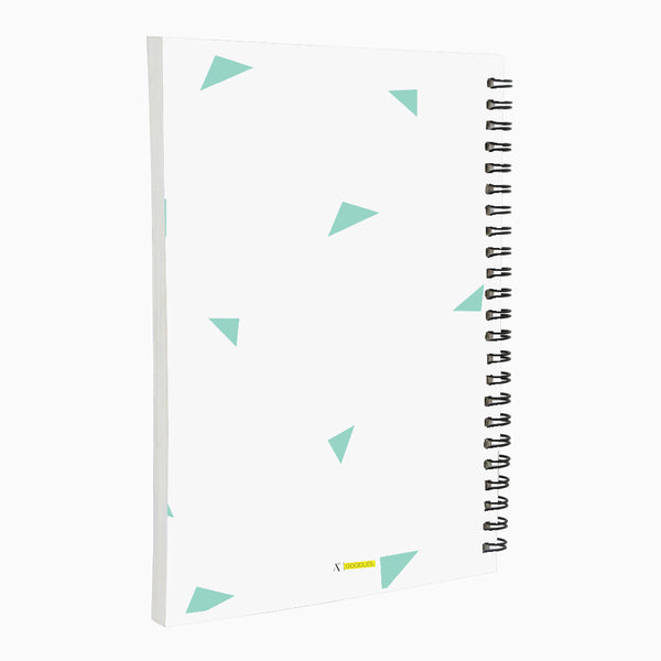 Oh Happy Day Notebook Green  A5 Wiro Notebook  160 Pages
