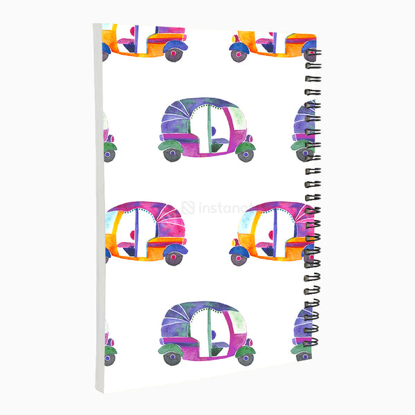Groovy Rickshaw - Non Dated Daily Planner A5 Size 80 Pages