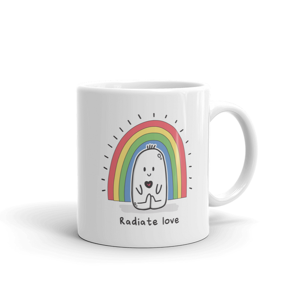 Radiate Love - Quirky Cool Illustrated Doodle Coffee Mug