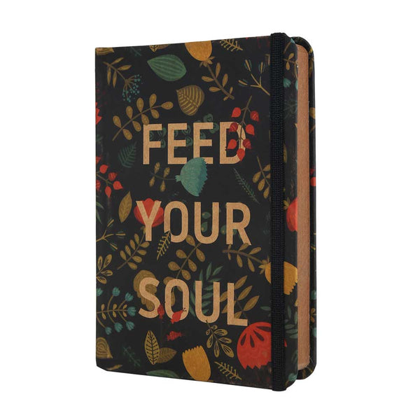 InstaNote Handmade Sketchbook for Artists - Hardbound Cover Indian Khakhi A6 112 Pages Inside (Feed Your Soul)