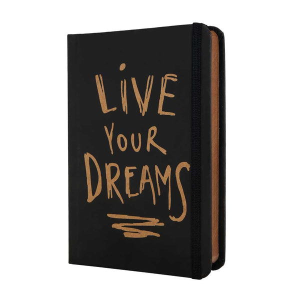 InstaNote Handmade Sketchbook for Artists - Hardbound Cover Indian Khakhi A6 112 Pages Inside (Live Your Dreams)