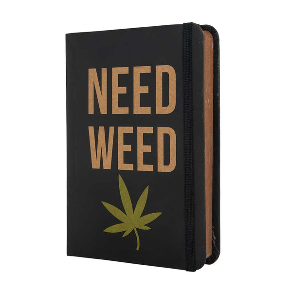 InstaNote Handmade Sketchbook for Artists - Hardbound Cover Indian Khakhi A6 112 Pages Inside (Need Weed)