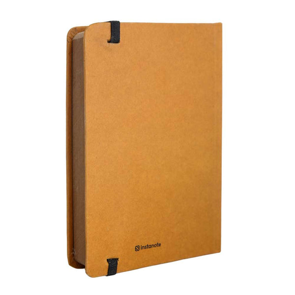 InstaNote Handmade Sketchbook for Artists - Hardbound Cover Indian Khakhi A6 112 Pages Inside ( Donut Worry Be Happy)