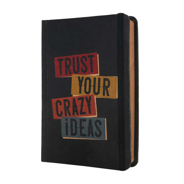 InstaNote Handmade Sketchbook for Artists - Hardbound Cover Indian Khakhi A6 112 Pages Inside (Trust Your Crazy Ideas)