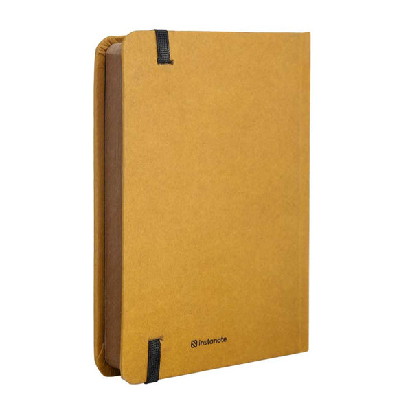 InstaNote Handmade Sketchbook for Artists - Hardbound Cover Indian Khakhi A6 112 Pages Inside (Grl Pwr)