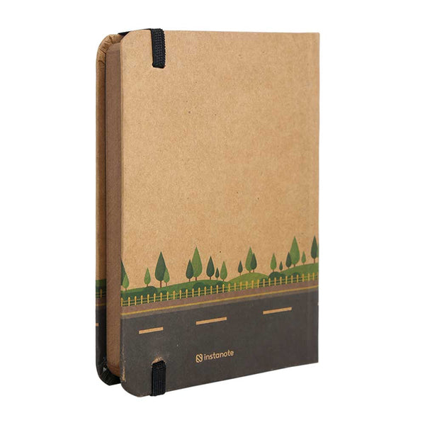 InstaNote Handmade Sketchbook for Artists - Hardbound Cover Indian Khakhi A6 112 Pages Inside (Let New Adventures Begin)