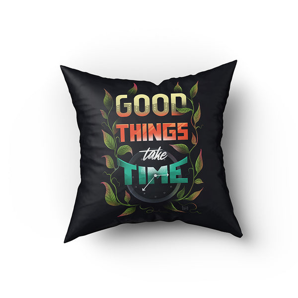 designer illustrated typography cushion covers online in India