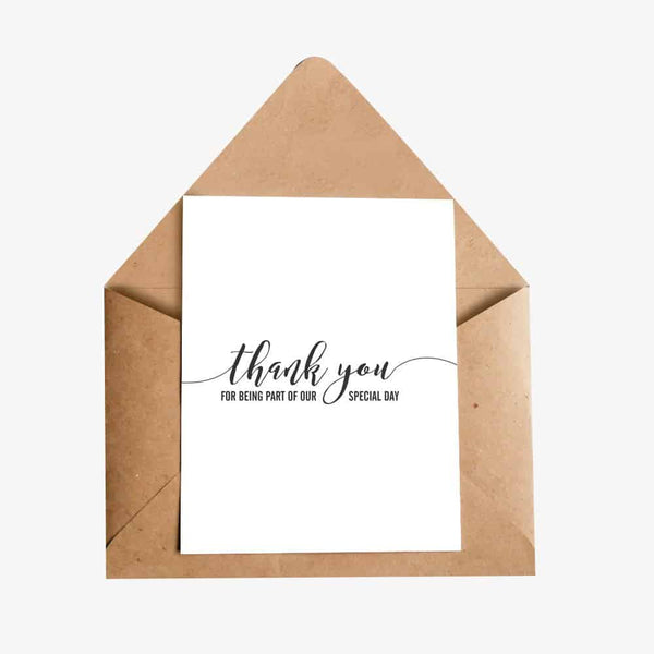 Thank You for being part of our special day Greeting Card