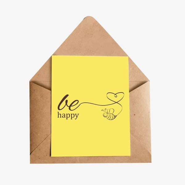 Be Happy Greeting Card
