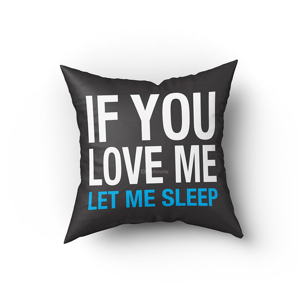 quirky gifts cushion cover for sleep lover people