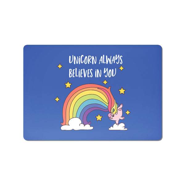 Unicorn Always Believe In You - Buy Cool Quirky Laptop Skins Stickers Online in India