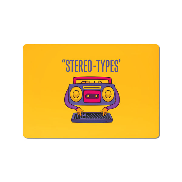 Stereo Types - Buy Cool Quirky Laptop Skins Stickers Online in India