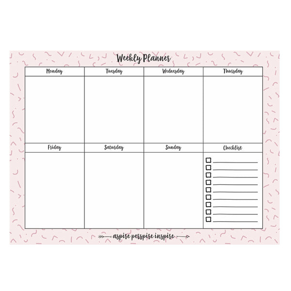 Weekly Planner Pad Notepad - Weekly Planning Pad with to Do List, Daily Schedule, and Habit Tracker - Increase Productivity and Accomplish More