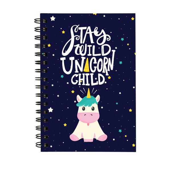 Stay Wild Unicorn Child - Non Dated Daily Planner A5 Size 160 Pages