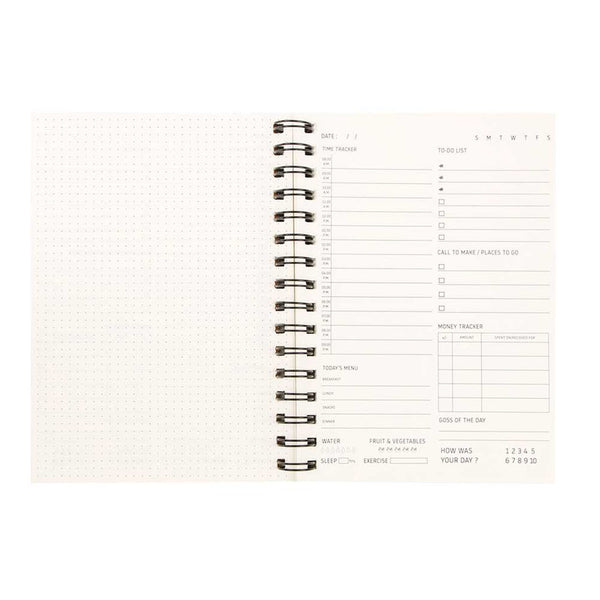 Non Dated Daily Planner A5 Size 160 Pages - Get Shit Done