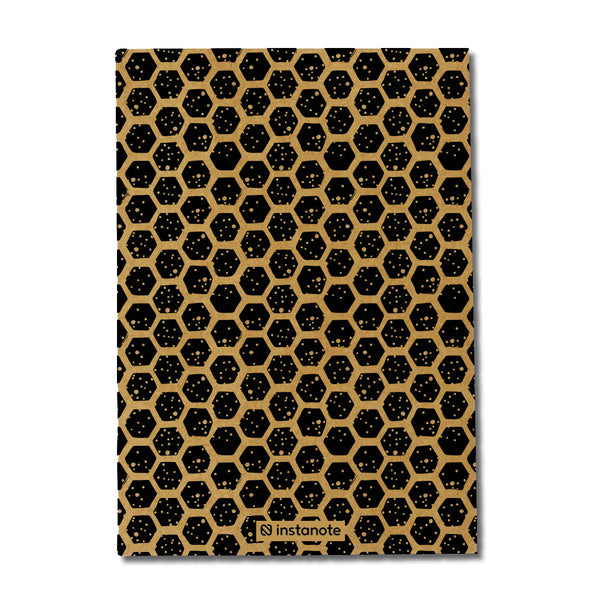 Hexagon Pattern Kraft Notebook