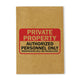 Private Property Kraft Notebook