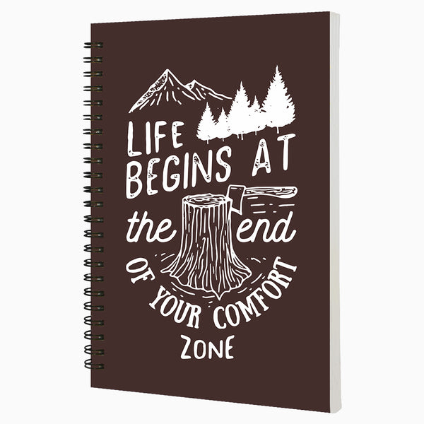 Life Begins At The End of Your Comfort Zone - Non Dated Daily Planner A5 Size 80 Pages