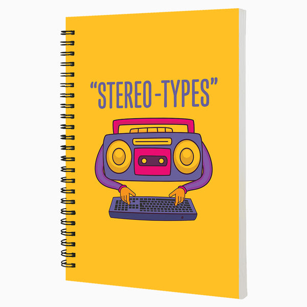 Stereo Types - Non Dated Daily Planner A5 Size 80 Pages