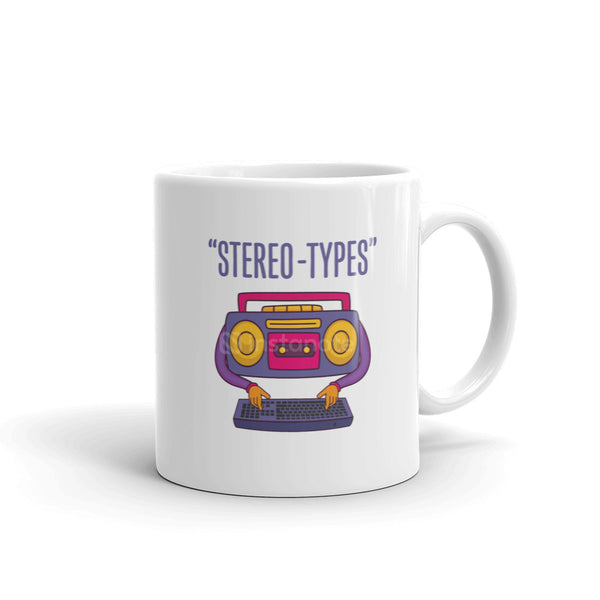 Stereo-Type Quirky Cool Coffee Mug