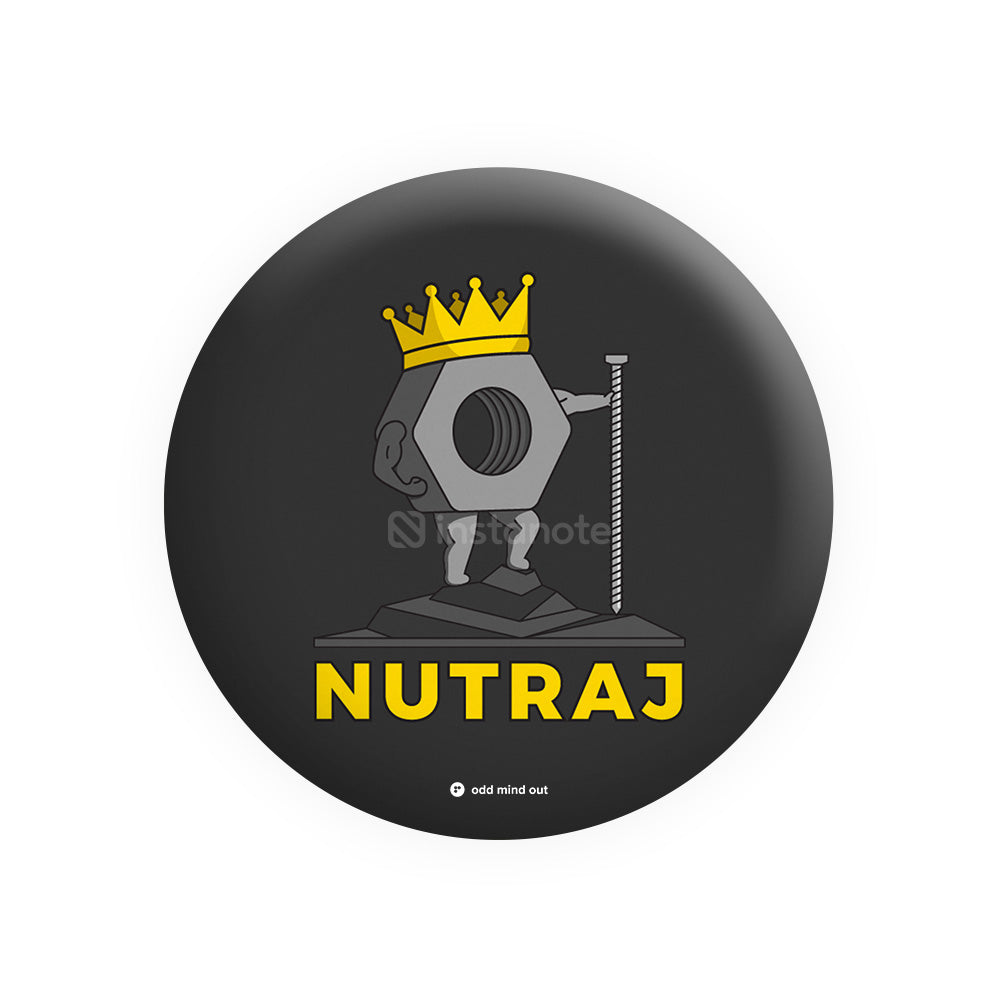 Nutraj – Buy Cool Funny Badges in India - Instanote