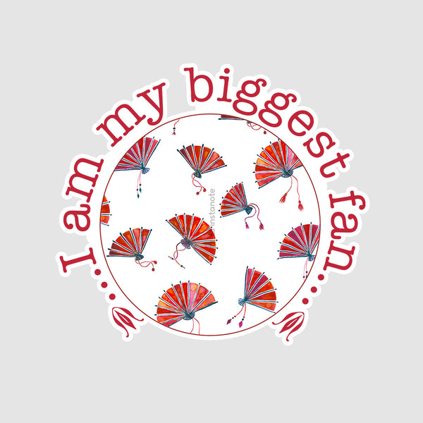 I Am My Biggest Fan - Buy Removable Vinyl Stickers in India