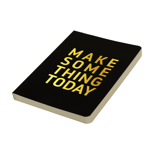 Make Something Today Black Cover And Gold Foiling – Buy Cool Quirky College Notebooks Online