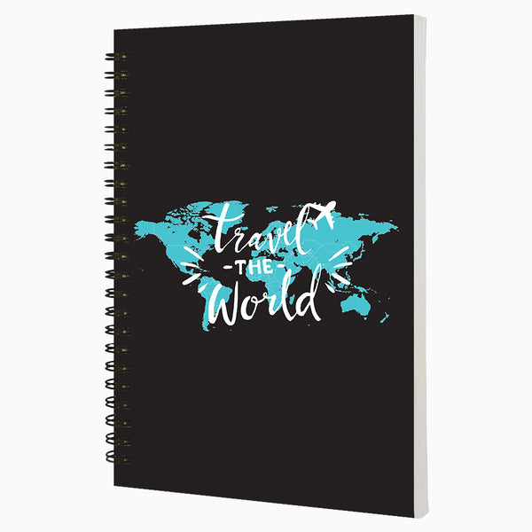 Travel The World – 80 pages – Ruled Notebook