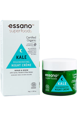 Superfoods Certified Organic Kale Regenerating Night Crème 50g - Expiry Date: November 2021