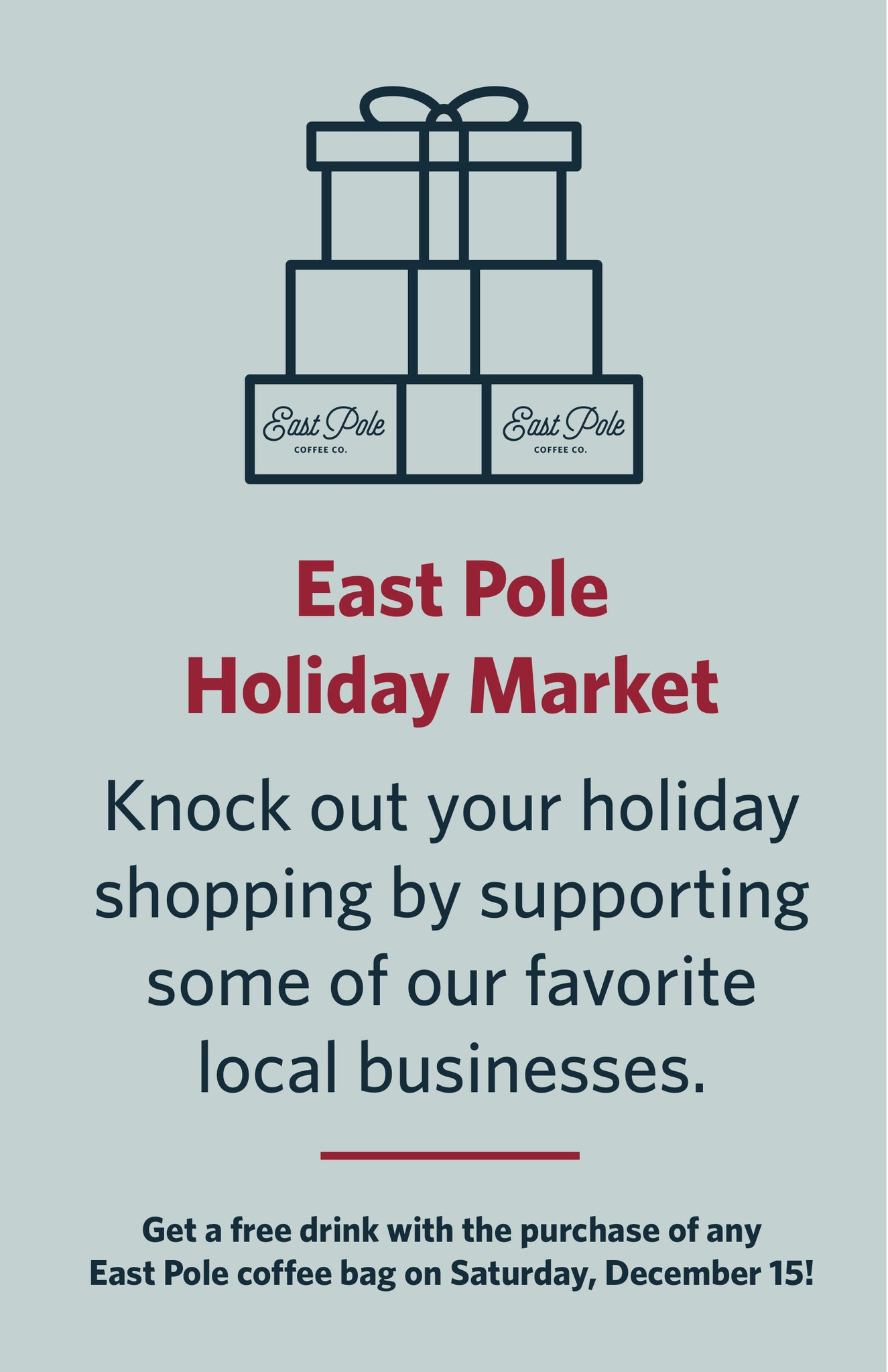 Cait + Co will be at East Pole's Holiday Market this Saturday!