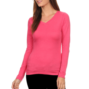 3 Pack Women's Long Sleeve Shirt V-Neck Slim Fit: ROYAL/FUCHSIA/CHARCOAL-ProductPro-Mercantile Americana