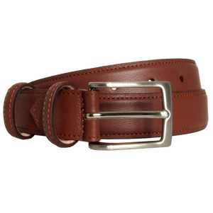 30 Mm Sartorial Fine-Grained Leather Belt Sienna-72 Smalldive-Mercantile Americana