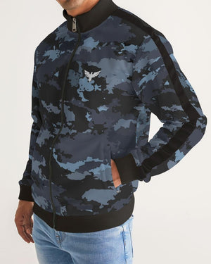 Men's Coast Camo Track Jacket W/Striped-Sleeve-Find-Your-Coast Apparel-Mercantile Americana