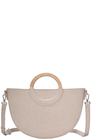 Stylish Semi Circle Modern Satchel With Long Strap-Mercantile Americana-Mercantile Americana